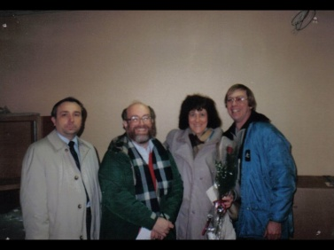 CE Bill Krause, me, Su Ronneburger, and Jimmy McGuire in a yet to be finished Commercial Production Studio