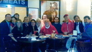 Some of the group that gathered at the Statler Grill